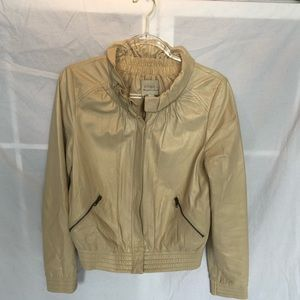 Hinge Nordstrom beige cream tan Leather jacket